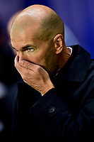Zinedine Zidane - entraineur (Real Madrid) <br /> Parigi 18-9-2019 <br /> Paris Saint Germain - Real Madrid  <br /> Champions League 2018/2019<br /> Foto Panoramic / Insidefoto <br /> Italy Only