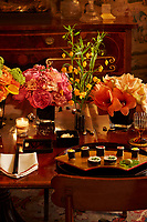 A table set for dinner with Japanese food