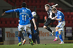 St Johnstone v Motherwell....25.02.14    SPFL<br /> Steven MacLean scores his second goal<br /> Picture by Graeme Hart.<br /> Copyright Perthshire Picture Agency<br /> Tel: 01738 623350  Mobile: 07990 594431