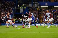 22nd September 2021; Stamford Bridge, Chelsea, London, England; EFL Cup football, Chelsea versus Aston Villa; Mason Mount of Chelsea taking a shot on goal