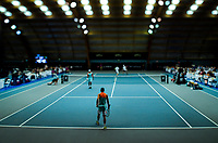 Men's doubles final between Marcus Daniell / George Stoupe and Kiranpal Pannu / Ajeet Rai. 2019 Wellington Tennis Open finals at Renouf Centre in Wellington, New Zealand on Sunday, 22 December 2019. Photo: Dave Lintott / lintottphoto.co.nz