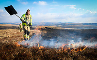 2018 02 27 Grass fire in the Black Mountain, Wales, UK