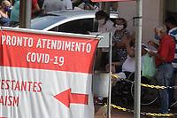 Campinas (SP), 12/01/2021 - Covid-19 - Movimentação nesta terça-feira (12) no Pronto-Socorro do Hospital de Clínicas da Unicamp na cidade de Campinas (SP), que anunciou ontem a suspensão de novos atendimentos após atingir 100% de lotação na UTI (Unidade de Tratamento Intensivo) de covid-19. De acordo com o hospital, o PS está atendendo com 357% da capacidade operacional atualmente.