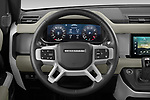 Car pictures of steering wheel view of a 2021 Land Rover Defender First-Edition 5 Door SUV Steering Wheel