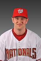 14 March 2008: ..Portrait of Brett McMillan, Washington Nationals Minor League player at Spring Training Camp 2008..Mandatory Photo Credit: Ed Wolfstein Photo