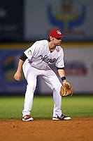 Tri-City ValleyCats shortstop Keach Ballard (32) during a game against the Brooklyn Cyclones on September 1, 2015 at Joseph L. Bruno Stadium in Troy, New York.  Tri-City defeated Brooklyn 5-4.  (Mike Janes/Four Seam Images)