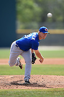 Toronto Blue Jays pitcher Chase Wellbrock (20) during a minor league spring training game against the Pittsburgh Pirates on March 21, 2015 at Pirate City in Bradenton, Florida.  (Mike Janes/Four Seam Images)