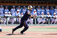CHAPEL HILL, NC - MARCH 08: Niko Kavadas #12 of the University of Notre Dame hits the ball during a game between Notre Dame and North Carolina at Boshamer Stadium on March 08, 2020 in Chapel Hill, North Carolina.