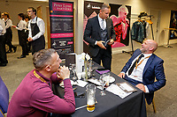 Lee Trundle speaks to former team mate Andy Robinson in the 1912 Lounge prior to the Sky Bet Championship match between Swansea City and Bristol City at the Liberty Stadium, Swansea, Wales, UK. Saturday 25 August 2018
