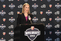 WPS CEO Jennifer O'Sullivan... The WPS draft 2012 was held at the Kansas City Convention Center, Kansas City, MO.