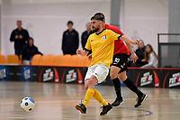 Tai Barham of Capital during the Men's Futsal SuperLeague, Canterbury United Futsal Dragons v Capital Futsal at ASB Sports Centre, Wellington on Saturday 31 October 2020.<br /> Copyright photo: Masanori Udagawa /  www.photosp ort.nz