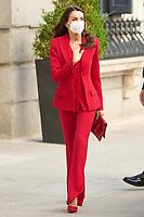 APR 12 Queen Letizia of Spain at Campoamor Tribute Ceremony