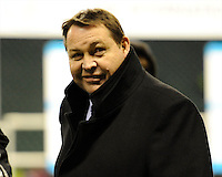 A relaxed looking Steve Hansen, New Zealand Coach, after winning the QBE Autumn International match between England and New Zealand at Twickenham on Saturday 16th November 2013 (Photo by Rob Munro)