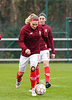 Sylke Calleeuw (9 Standard)  during the warm up before a female soccer game between Standard Femina de Liege and RSC Anderlecht on the 9th matchday of the 2020 - 2021 season of Belgian Scooore Womens Super League , saturday 12 th of December 2020  in Angleur , Belgium . PHOTO SPORTPIX.BE | SPP | SEVIL OKTEM