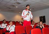 11-sept.-2013,Netherlands, Groningen,  Martini Plaza, Tennis, DavisCup Netherlands-Austria, Press conference  (AUT)<br /> Photo: Henk Koster