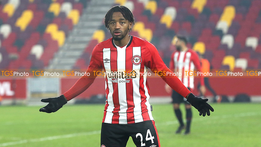Tariqe Fosu of Brentford during Brentford vs Middlesbrough, Emirates FA Cup Football at the Brentford Community Stadium on 9th January 2021