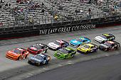 NASCAR Xfinity Series<br /> Fitzgerald Glider Kits 300<br /> Bristol Motor Speedway, Bristol, TN USA<br /> Saturday 22 April 2017<br /> Kyle Larson and Daniel Suarez, Juniper Toyota Camry<br /> World Copyright: Nigel Kinrade<br /> LAT Images<br /> ref: Digital Image 17BRI1nk06542