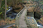 Bridge over Deer Leap Falls, Delaware Water Gap National Recreation Area, Pennsylvania