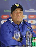SALVADOR, BA, 20.06.2019: COPA AMÉRICA-SALVADOR. Técnico Hernan Gomez do Equador em coletiva, na noite desta quinta-feira (20), na Arena Fonte Nova, no centro de Salvador. <br /> Foto: Sandro Pereira/Codigo19