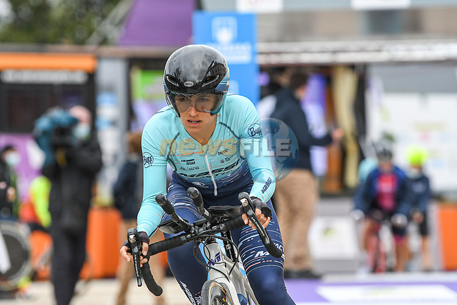 Massi Tactic Women Team rider in action during Stage 2 of the CERATIZIT Challenge by La Vuelta 2020, an individual time trial running 9.3km around Boadilla del Monte, Spain. 6th November 2020.<br /> Picture: Antonio Baixauli López/BaixauliStudio | Cyclefile<br /> <br /> All photos usage must carry mandatory copyright credit (© Cyclefile | Antonio Baixauli López/BaixauliStudio)