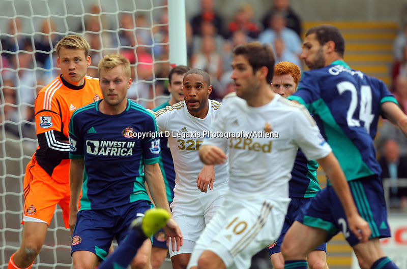 Saturday, 01 September 2012<br /> Pictured: Ashley Williams, Danny Graham<br /> Re: Barclays Premier League, Swansea City FC v Sunderland at the Liberty Stadium, south Wales.