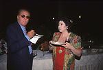 RENZO ARBORE CON MARISA LAURITO<br /> VILLA TAVERNA ROMA 2000