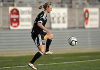 BOYDS, MARYLAND-JULY 07,2012:  Becky Sauerbrunn (11) of DC United Women controls the ball against the Dayton Dutch Lions during a W League game at Maryland Soccerplex, in Boyds, Maryland. DC United women won 4-1.