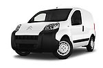 Stock pictures of low aggressive front three quarter view of a 2017 Citroen Nemo Business 4 Door Car van