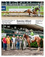 Dancing Afleet winning at Delaware Park on 6/13/13