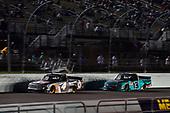 #4: Todd Gilliland, Kyle Busch Motorsports, Toyota Tundra JBL/SiriusXM and #13: Johnny Sauter, ThorSport Racing, Ford F-150 Tenda Heal
