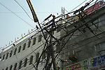 Wire junction in New Delhi, India.