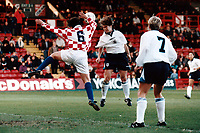 Match action during England Women vs Croatia Women, European Championships Qualifier Football at The Valley, Charlton Athletic FC on 19th November 1995
