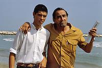 - the actor Vittorio Gassman and his son Alessandro at the Venice Film Festival in 1982<br /> <br /> - l'attore Vittoro Gassman con il figlio Alessandro al festival del cinema di VE del 1982