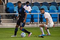 SAN JOSE, CA - SEPTEMBER 05: Marcos Lopez #27 during a game between Colorado Rapids and San Jose Earthquakes at Earthquakes Stadium on September 05, 2020 in San Jose, California.