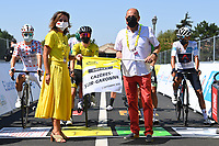 5th September 2020, Grand Colombier, France;  Illustration picture at the departure during stage 8 of the 107th edition of the 2020 Tour de France cycling race, a stage of 140 kms with start in Cazeres-sur-Garonne and finish in Loudenvielle