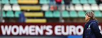 Milena Bartolini coach of Italy during the warm up banner<br /> Castel di Sangro 12-11-2019 Stadio Teofolo Patini <br /> Football UEFA Women's EURO 2021 <br /> Qualifying round - Group B <br /> Italy - Malta<br /> Photo Cesare Purini / Insidefoto