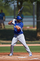 Los Angeles Dodgers Jose Peraza (18) during an instructional league game against the Milwaukee Brewers on October 13, 2015 at Cameblack Ranch in Glendale, Arizona.  (Mike Janes/Four Seam Images)