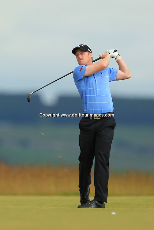 David Horsey (ENG) during the third round of the 2012 Aberdeen Asset Management Scottish Open being played over the links at Castle Stuart, Inverness, Scotland from 12th to 15th July 2012:  Stuart Adams www.golftourimages.com:14th July 2012