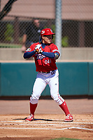 Kia Tigers Kyeong-rok Lee (041) bats during an Instructional League game against the Colorado Rockies on October 5, 2016 at Salt River Fields at Talking Stick in Scottsdale, Arizona.  (Mike Janes/Four Seam Images)