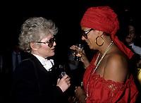 Suzanne Levesque et Francine Grimaldi au FFM de 1985<br /> <br /> <br /> <br /> PHOTO : Agence Quebec Presse