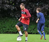 KV Kortrijk : Eerste training met Romain Reynaud.foto VDB / BART VANDENBROUCKE