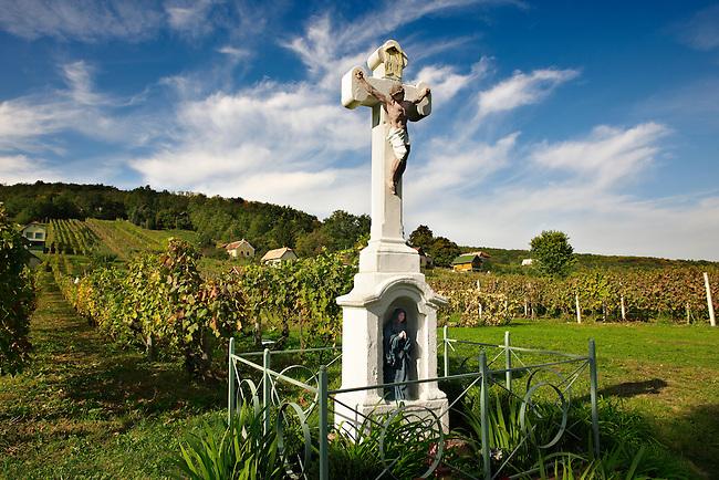 Cross of the blue Madonna - Korseg Wineyards, Velem, Hungary