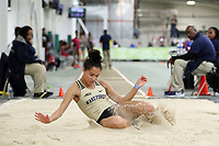 "WINSTON-SALEM, NC - FEBRUARY 07: Robbie Grace of Wake Forest University was the top collegiate finisher in the Women's Long Jump with a jump of 5.87 meters (19'3.25"") at JDL Fast Track on February 07, 2020 in Winston-Salem, North Carolina."