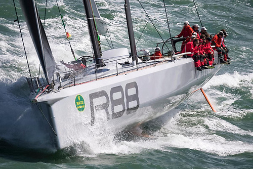 American George David's Rambler 88 has won monohull line honours in the last two editions of the Rolex Fastnet Race and will be on the start line in Cowes again this year for the 695nm race to the Fastnet Rock and on to Cherbourg