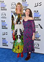 SANTA MONICA, CA: 08, 2020: Laura Dern & Jaya Harper at the 2020 Film Independent Spirit Awards.<br /> Picture: Paul Smith/Featureflash