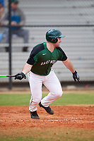 Dartmouth Big Green left fielder Ben Socher (26) at bat during a game against the Southern Maine Huskies on March 23, 2017 at Lake Myrtle Park in Auburndale, Florida.  Dartmouth defeated Southern Maine 9-1.  (Mike Janes/Four Seam Images)