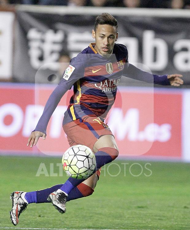 FC Barcelona's Neymar Jr during La Liga match. March 3,2016. (ALTERPHOTOS/Acero)