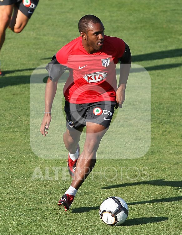 Atletico de Madrid's Florence Sinama-Pongolle during training sesion. August 05 2009. (ALTERPHOTOS/Acero).