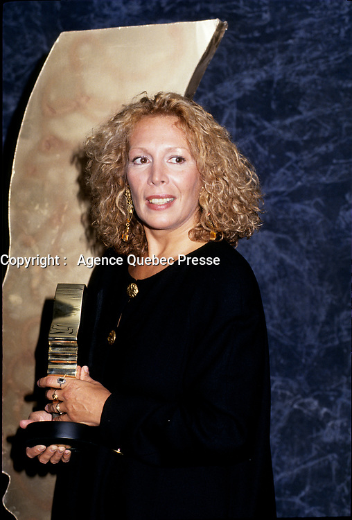 FILE PHOTO - Angele Coutu awarded at the Gemeaux Gala<br />  in 1993.