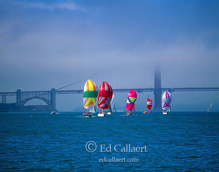 Sailing, San Francisco, Golden Gate Bridge, California